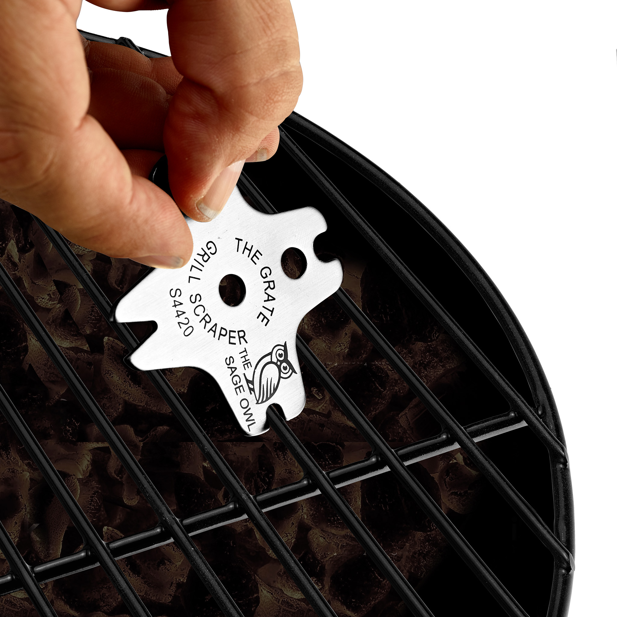 S4420 - The Grate Grill Scraper - Stainless Steel Barbecue Tool