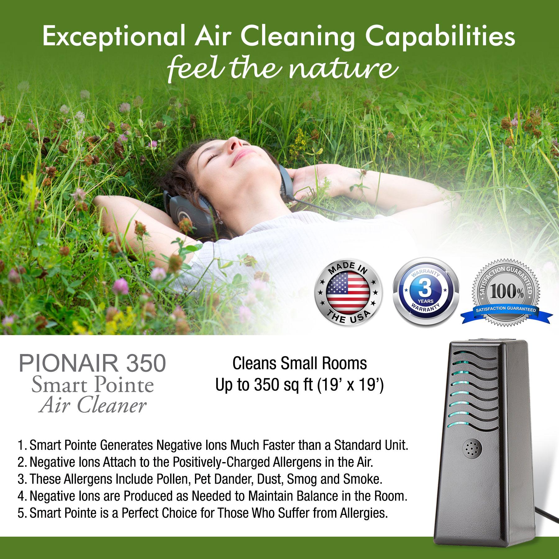 PIONAIR 350 Smart Pointe - 4 in 1 Air Cleaner