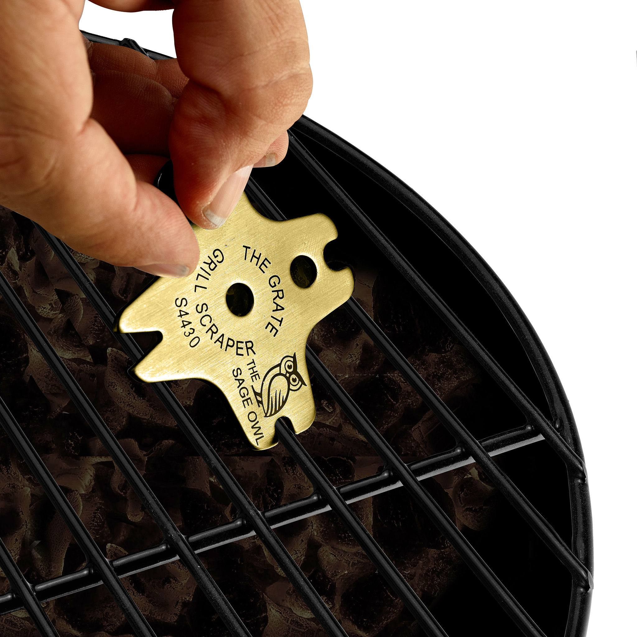 S4430 - The Grate Grill Scraper - Brass Barbque Grill Cleaner