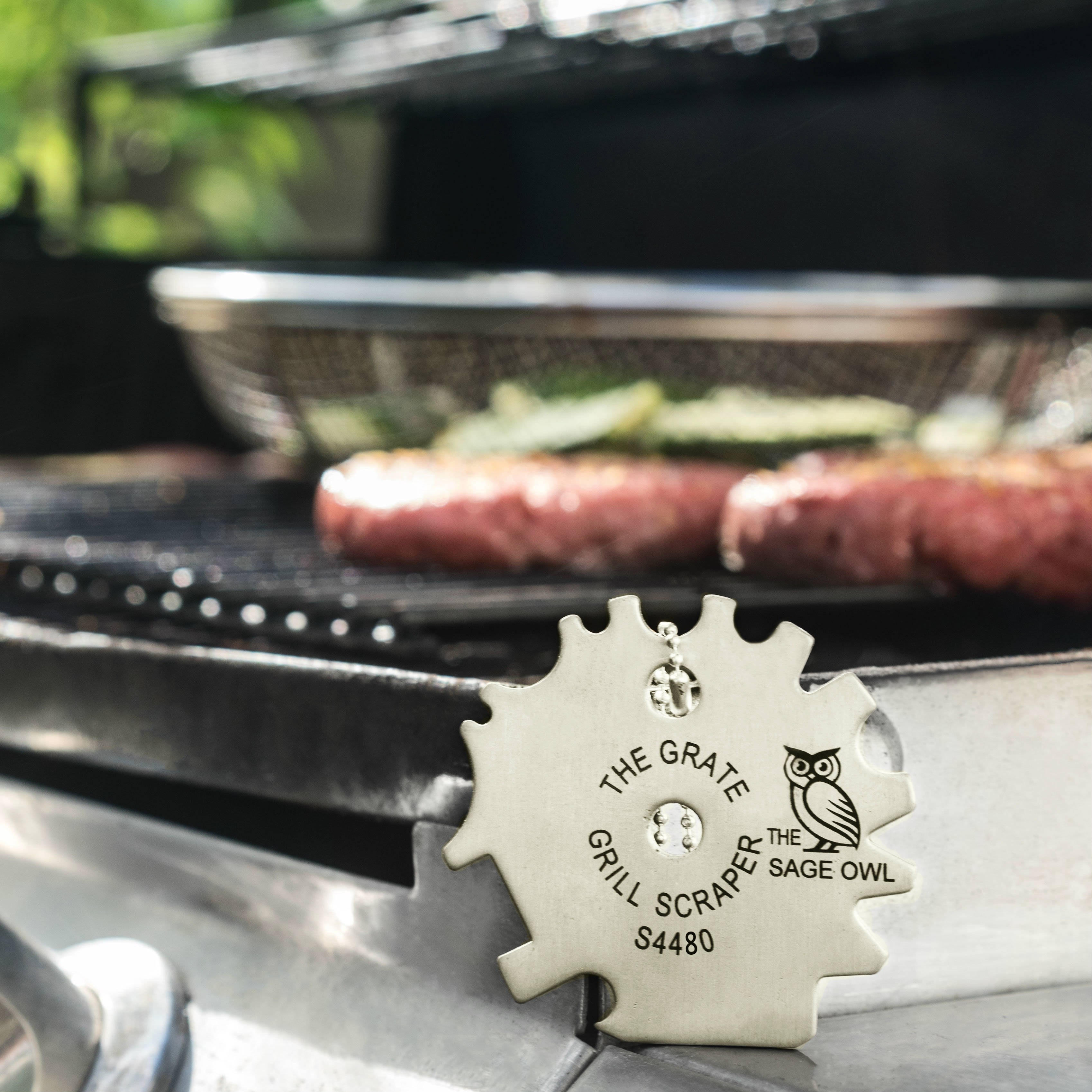 S4480 - The Grate Grill Scraper - Stainless Steel BBQ Grill Tool
