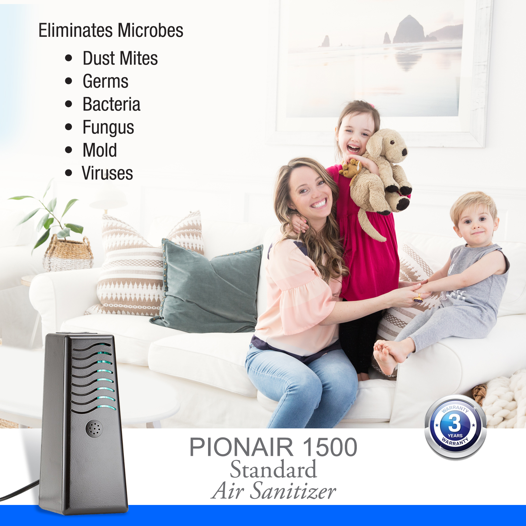 PIONAIR 1500 - 4-in-1 Air Treatment System