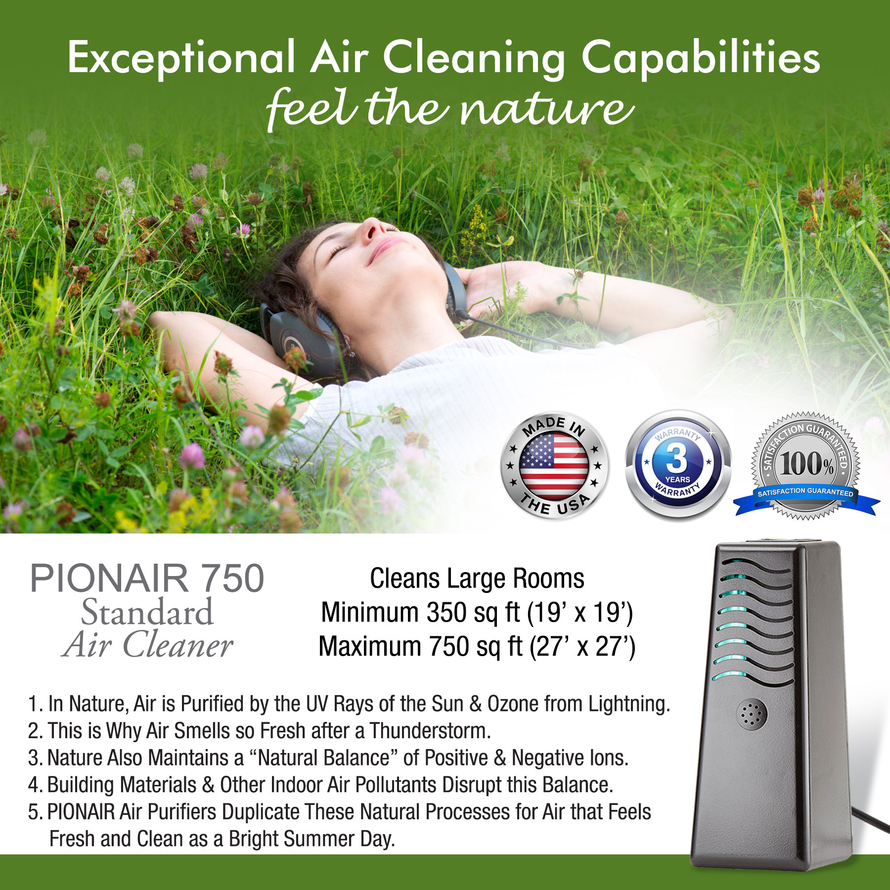 PIONAIR 750 - 4-in-1 Air Purification System